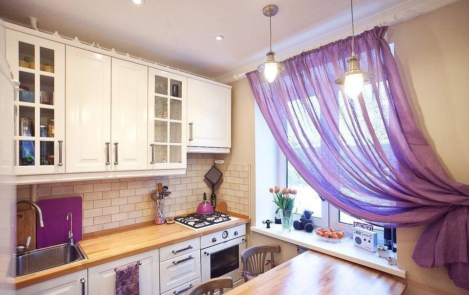 Самые лучшие варианты штор для маленькой кухни