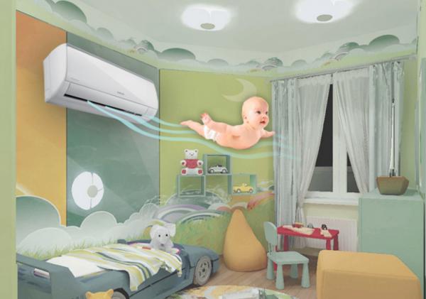 Можно ли устанавливать кондиционер в детской?
