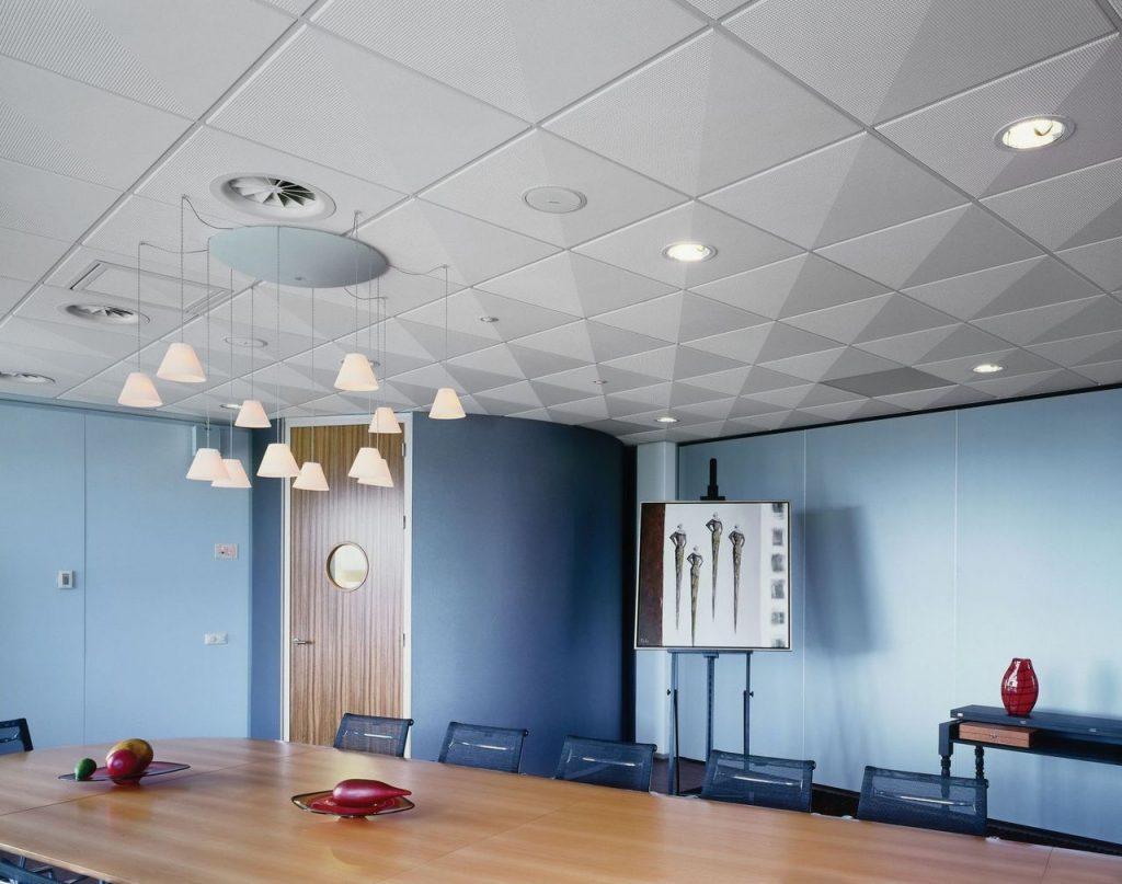 Акустические потолки: материалы и преимущества применения