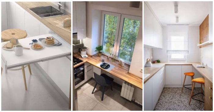Какой выбрать стол в маленькую кухню?